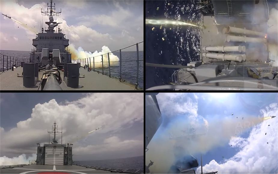 Colombian Navy has test fired SSM 700K Haeseong anti ship missile from FS 1500 Almirante Padilla class corvette 925 001