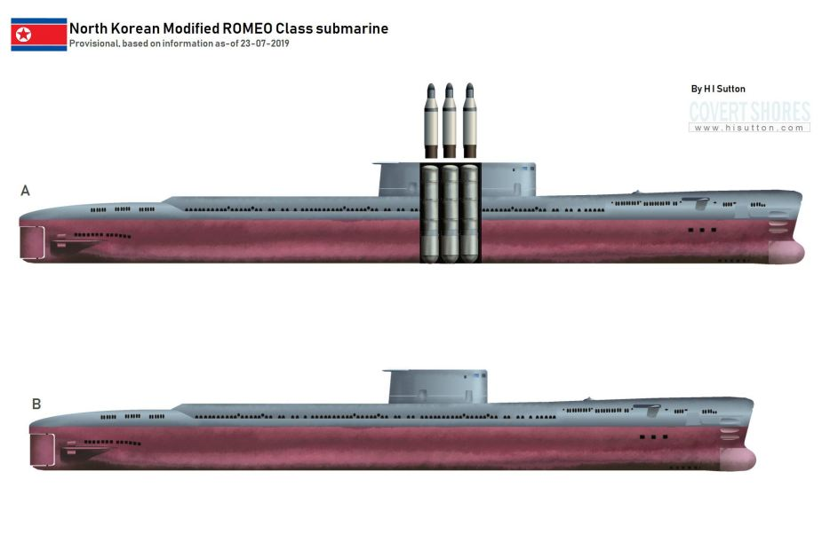 New North Korean submarine could carry 3 ballistic missiles SLBM 925 001