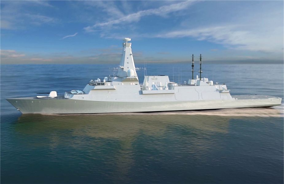 Type 26 City Class new generation of multirole frigate for Royal British Navy 925 001