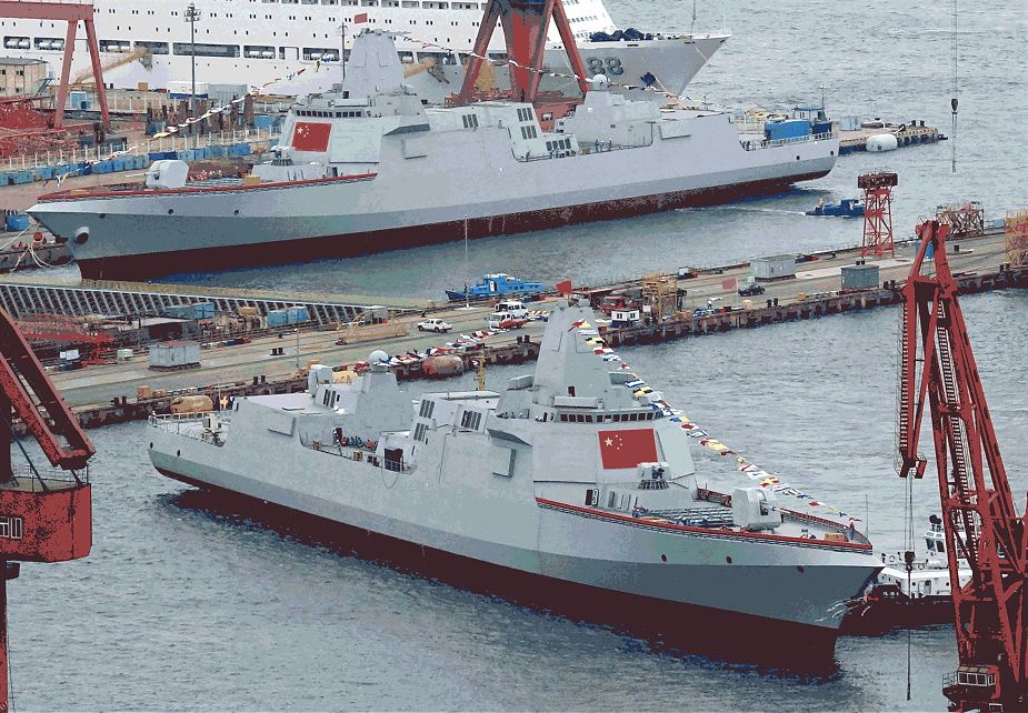 China has launched five warships in December 2019 including Type 056A Type 052D Type 055 missile destroyers and frigates 925 003