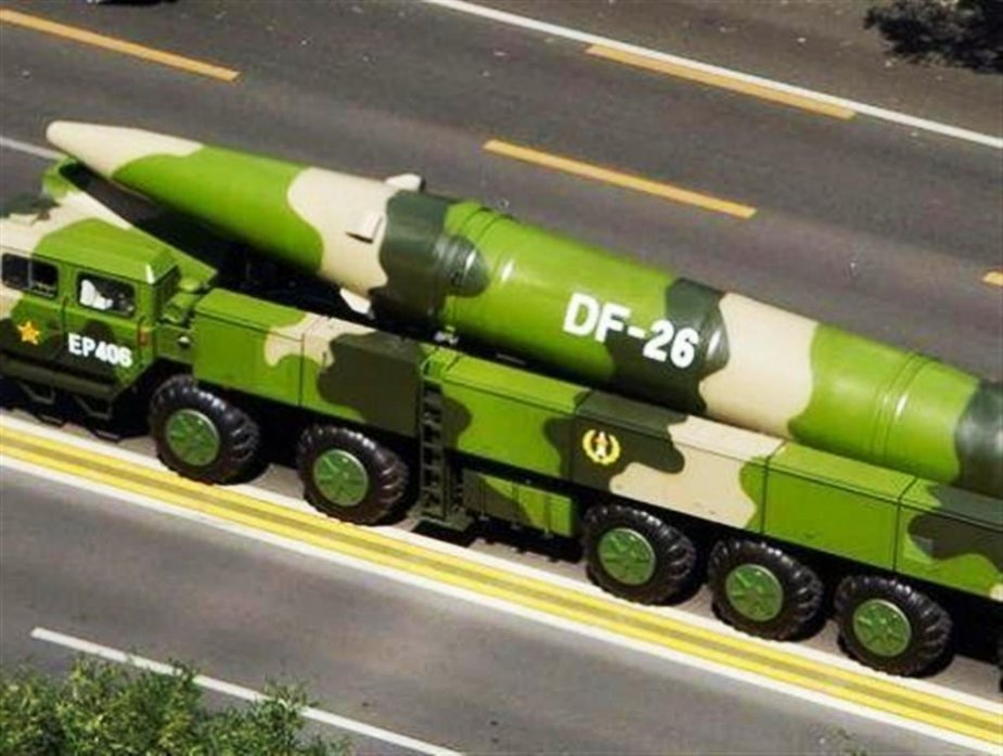 China unveils anti ship version of its DF 26 missile