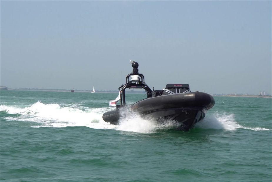 BAE Systems Successful trials with autonomous Pacific 950 Rigid Inflatable Boat RIB demonstrator 925 001