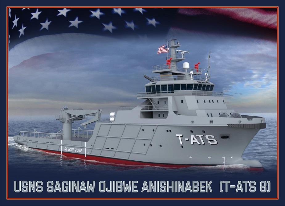 USA Newest Towing Salvage and Rescue ship T ATS 8 will be named Saginaw Ojibwe Anishinabek