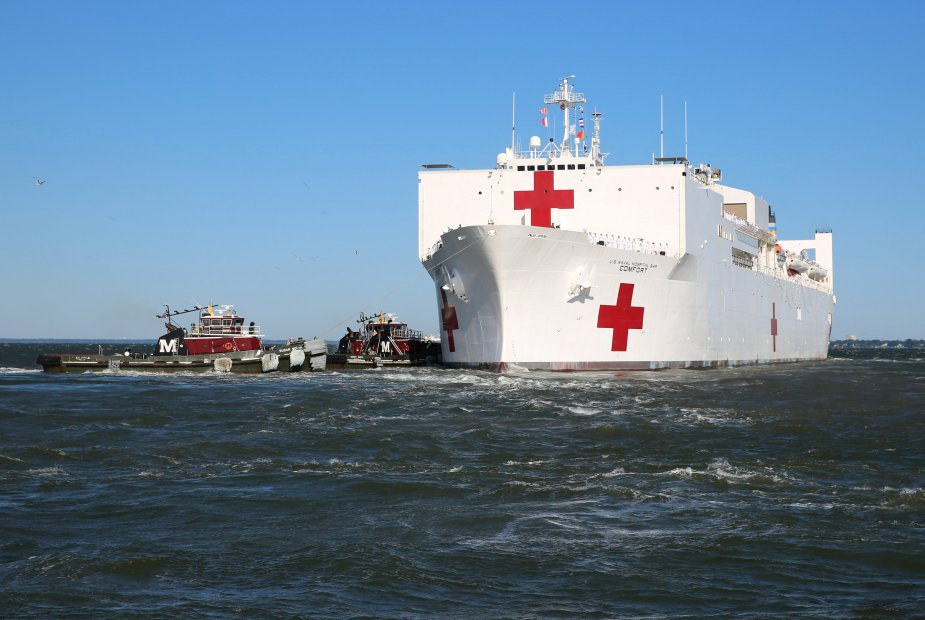 US Navy Hospital Ship USNS Comfort departed for Medical Mission