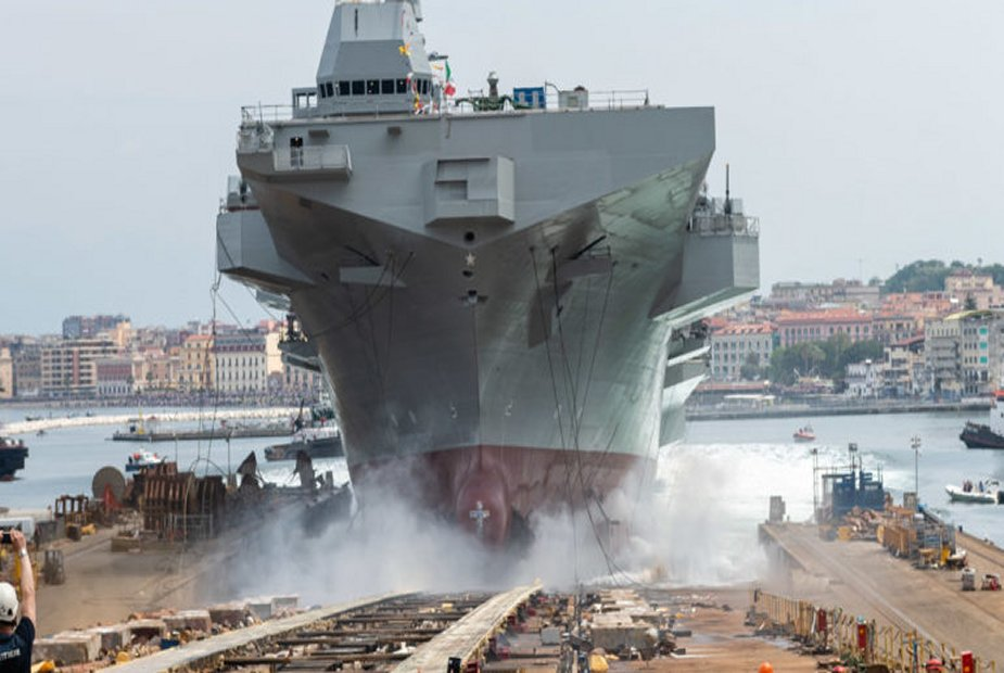 Fincantieri launches LHD Trieste for the Italian Navy