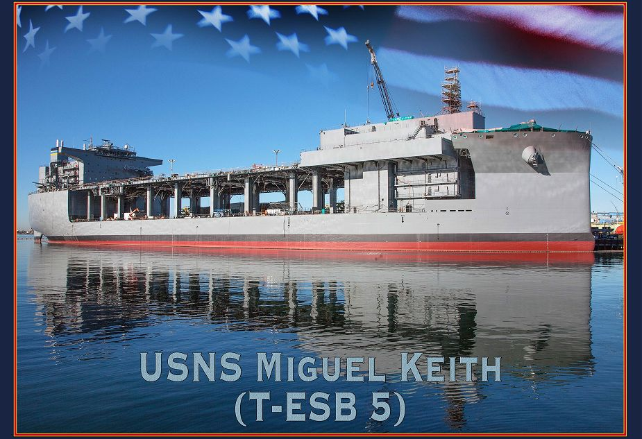 Delivery of third Expeditionary Sea Base ESB ship USNS Miguel Keith to US Navy 925 001