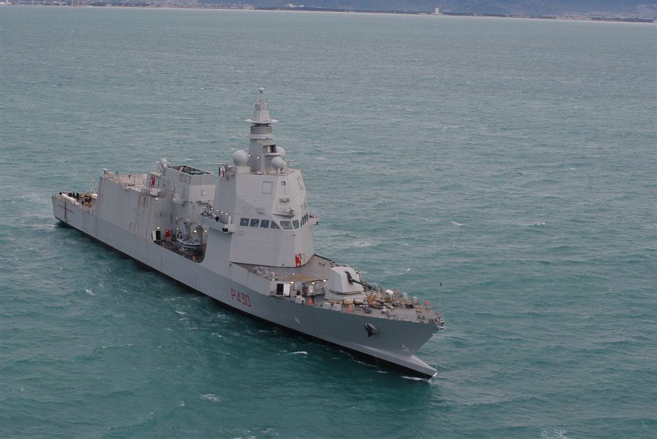 First sea trials for Paolo Thaon di Revel PPA multipurpose offshore ships built for Italian Navy 925 001