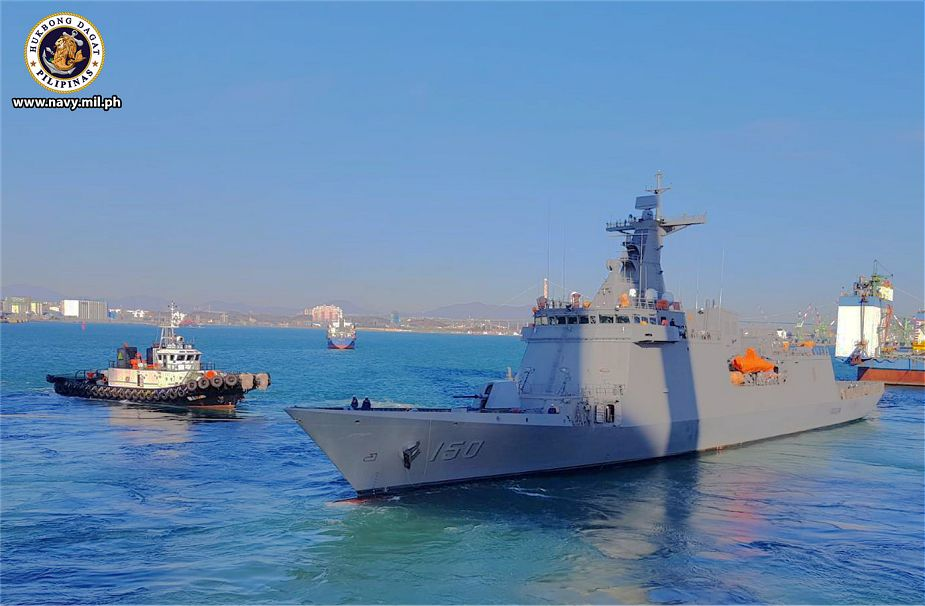 Sea trials BRP for Jose Rizal class frigate of the Philippine Navy 925 001
