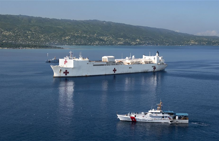 U.S. Navy USNS Comfort hospital ship will be deployed Haiti for medical mission 925 001
