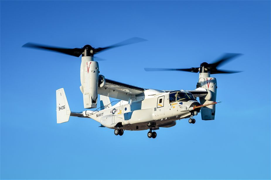 US Navy CMV 22B Carrier Onboard Delivery variant of Osprey operational test in real world environment 925 001