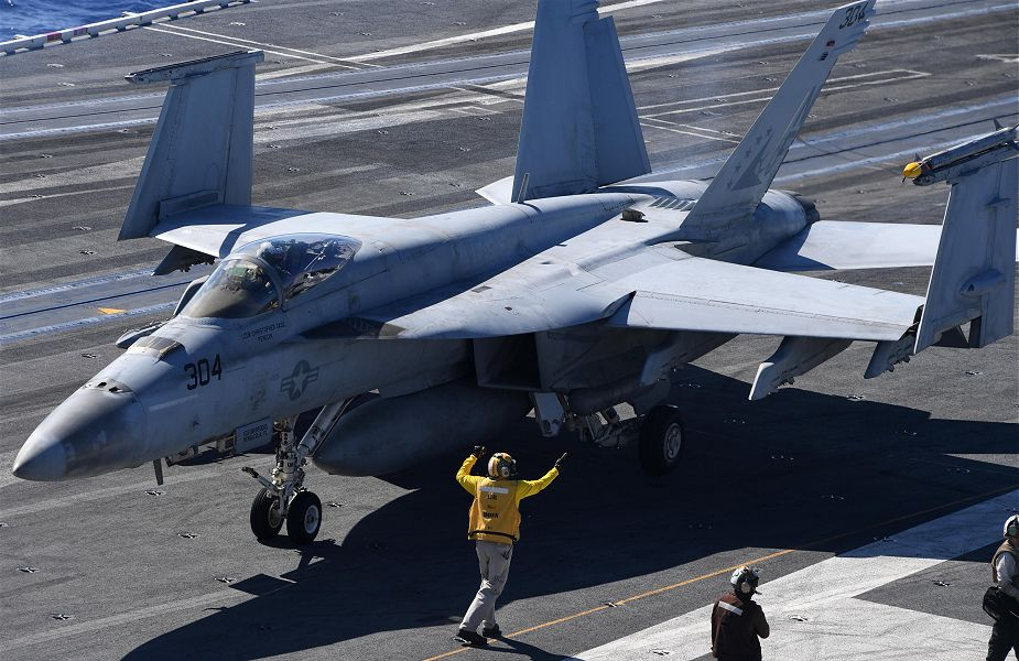 US navy has taken delivery of final Block II Super Hornet aircraft 925 001