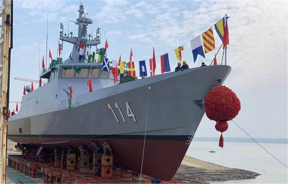 Chinese shipyard completes construction phase of fourth Littoral Mission  Ship for Malaysian Navy