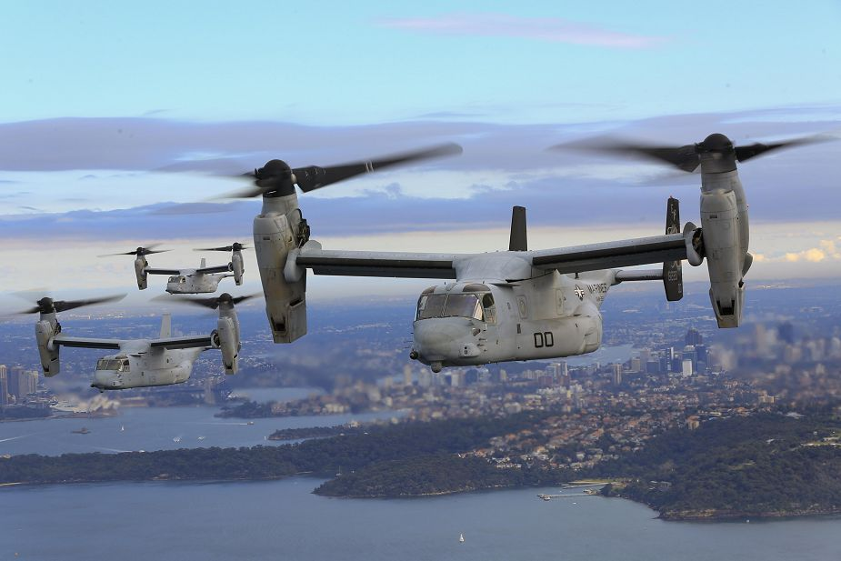 Bell Boeing contract to deliver two MV 22B Osprey tiltrotor V STOL aircraft for U.S. Marine Corps 925 001