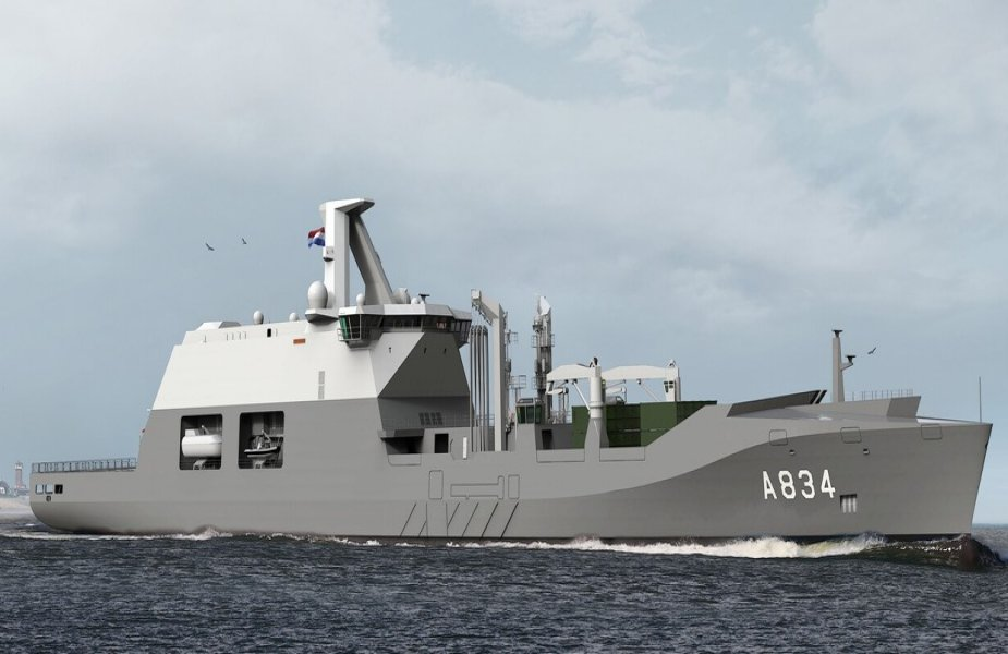Damen to supervise construction of combat support ship HNLMS Den Helder 925 001