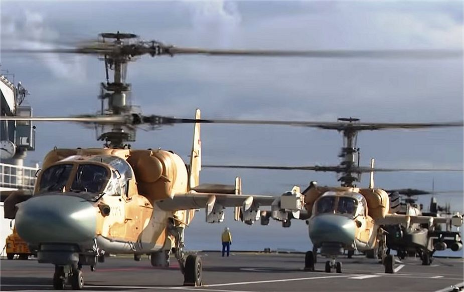 During naval exercise in Egypt Ka 52 and AH 64 helicopters take off from amphibious assault ship ENS Gamal Abdel Nasser 925 001