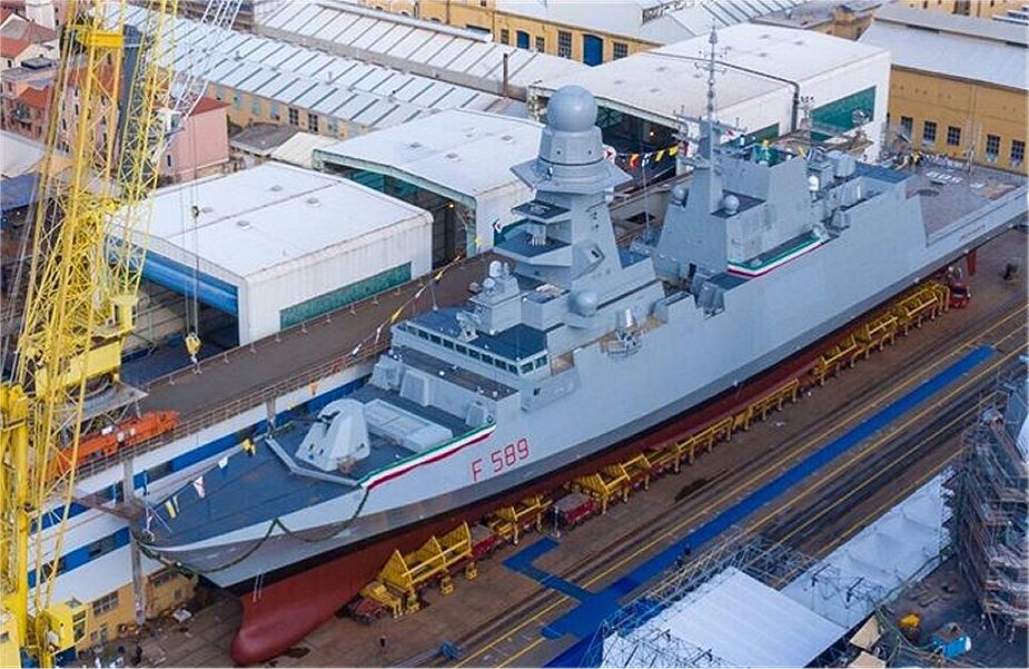 Italian shipbuilding company Fincantieri has launched the tenth multipurpose frigate Emilio Bianchi 925 001
