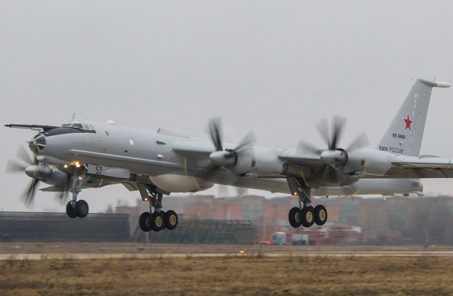 Long range anti submarine aircraft Tu 142MZ is being tested after scheduled repair 925 001