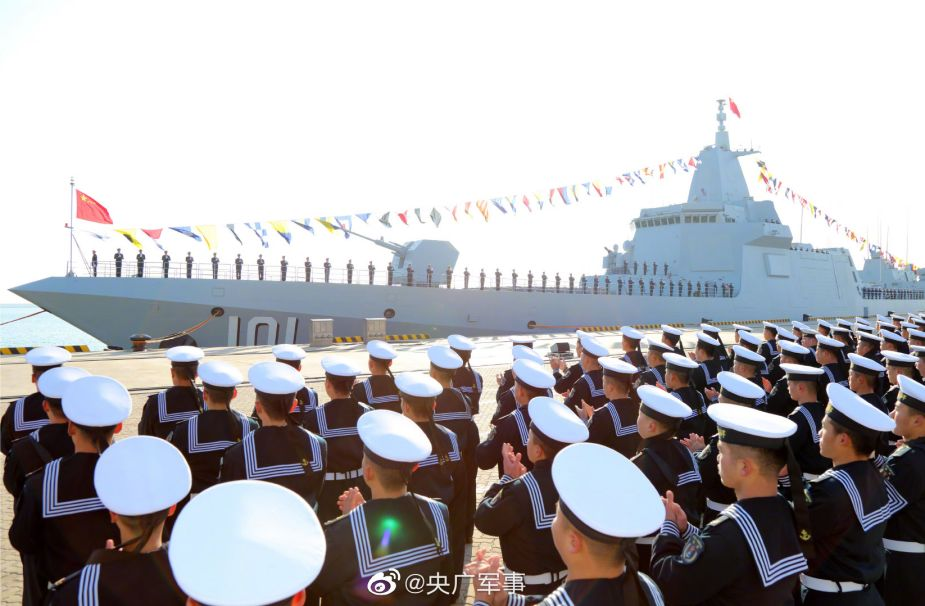 Navy of China has commissioned its first Type 55 missile destroyer 101 Nanchang 925 001