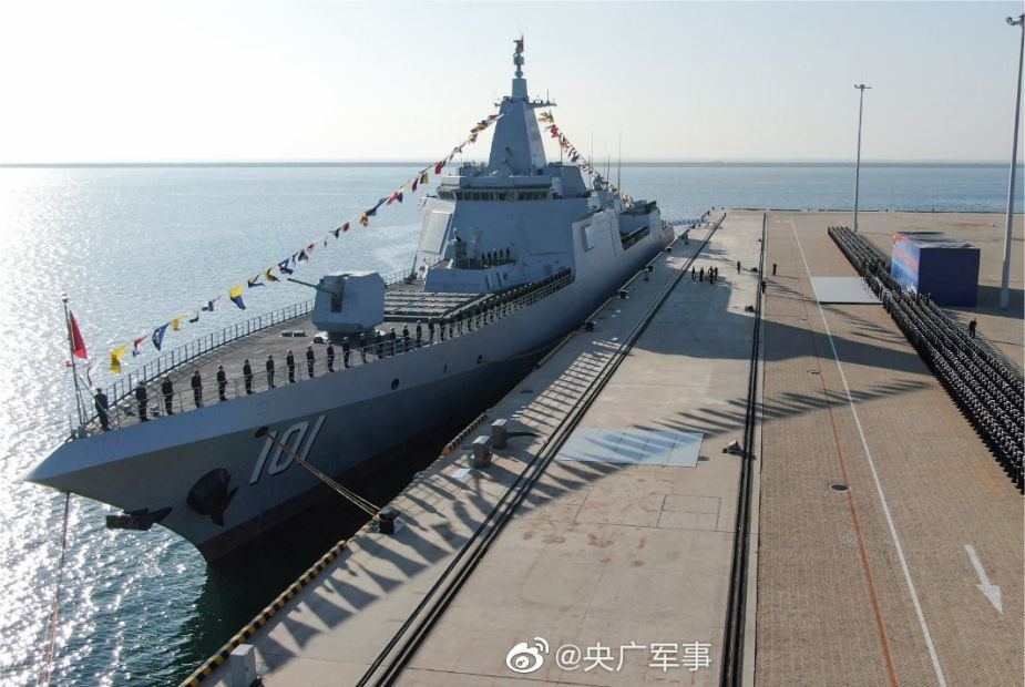 Navy of China has commissioned its first Type 55 missile destroyer 101 Nanchang 925 002