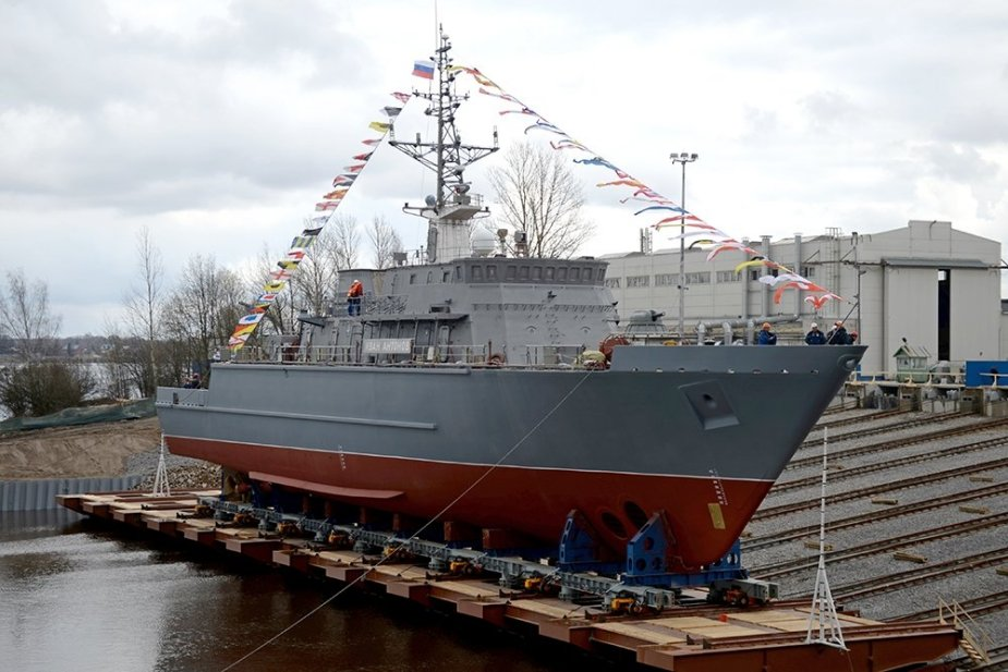 Russian shipbuilders to float out latest minesweeper Project 12700 Yakov Balyayev 925 001