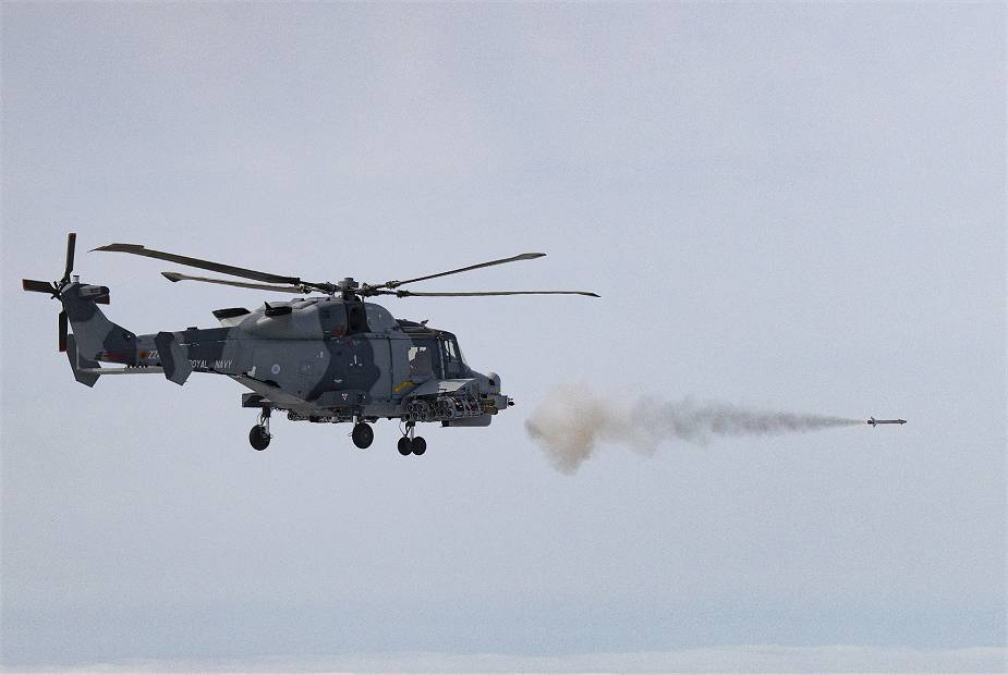 British Navy conducts test fire of new Martlet missile from Wildcat HMA Mk 2 helicopter 925 001