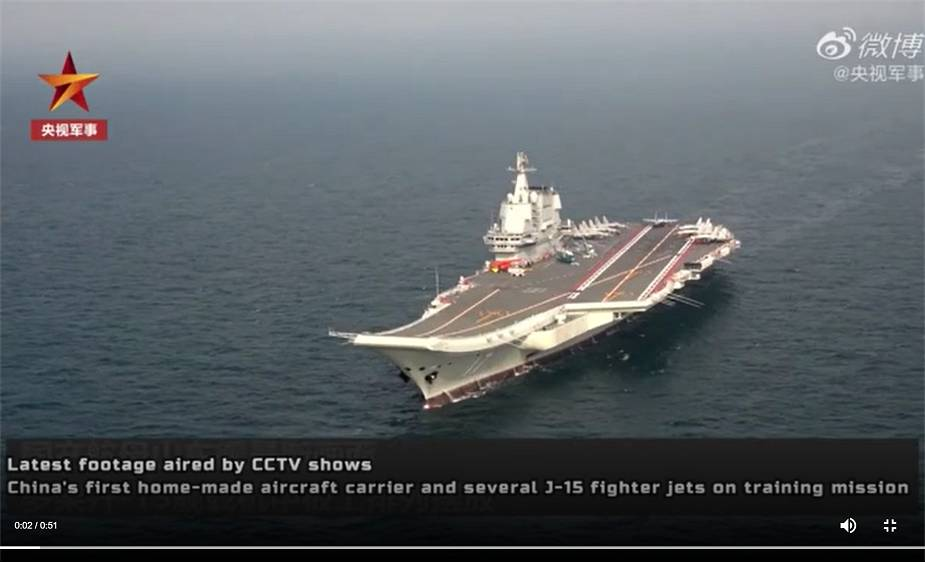 Chinese PLA Navy Shandong Type 001A aircraft carrier conducts sea trials 925 001