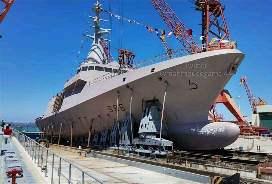 Egyptian Alexandria shipyard has launched the 4th El Fateh class Gowind 2500 corvette Luxor L986 925 001