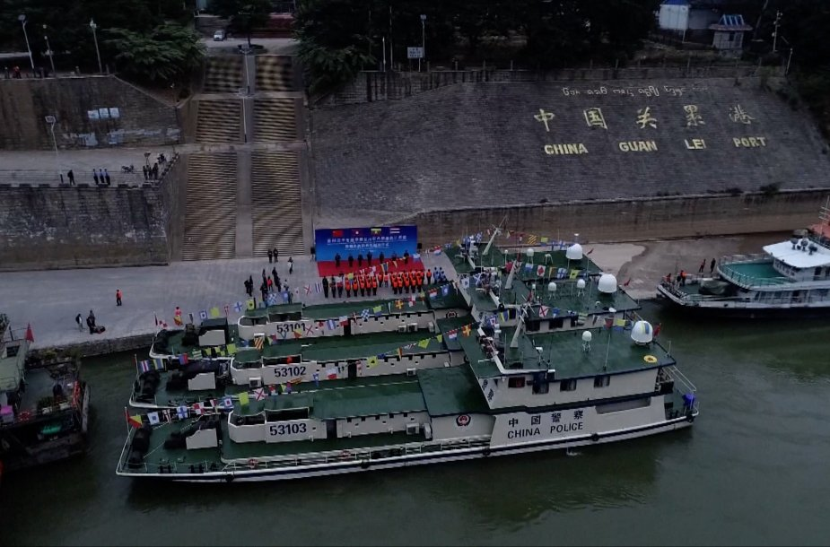 China Laos Myanmar and Thailand to start joint patrol on Mekong River 925 001