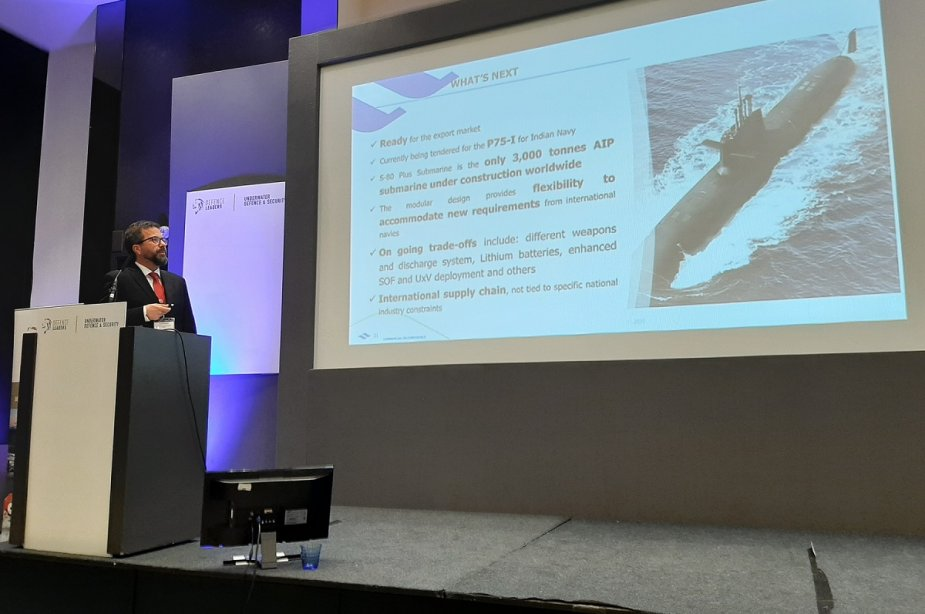 Navantia presents S80 Plus Submarine For Indias P 75I at Underwater Defence Security 2020 Conference 925 002