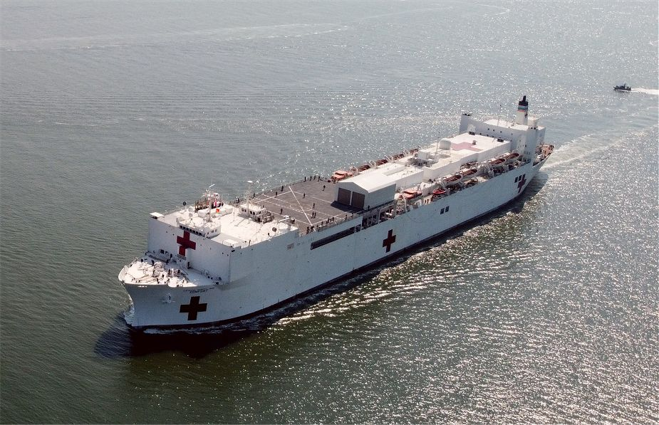 US Navy hospital ship USNS Comfort T AH 20 will support American people in the fight of COVID 19 925 001