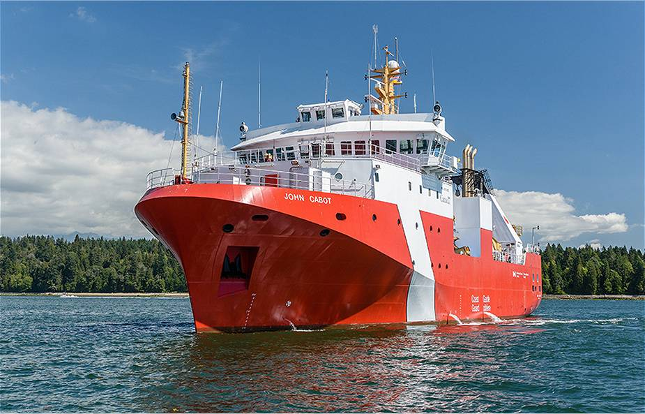 Canadian Coast Guard Takes Delivery Of Third Offshore Fisheries Science Vessel John Cabot