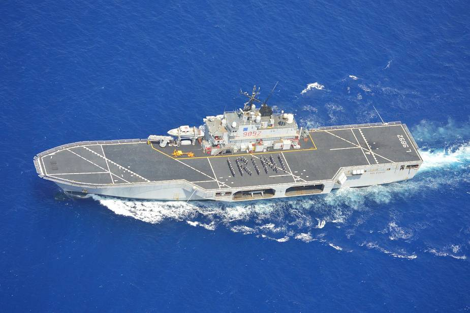 Italian Navy San Giorgio amphibious assault ship is new flagship for operation IRINI 925 001