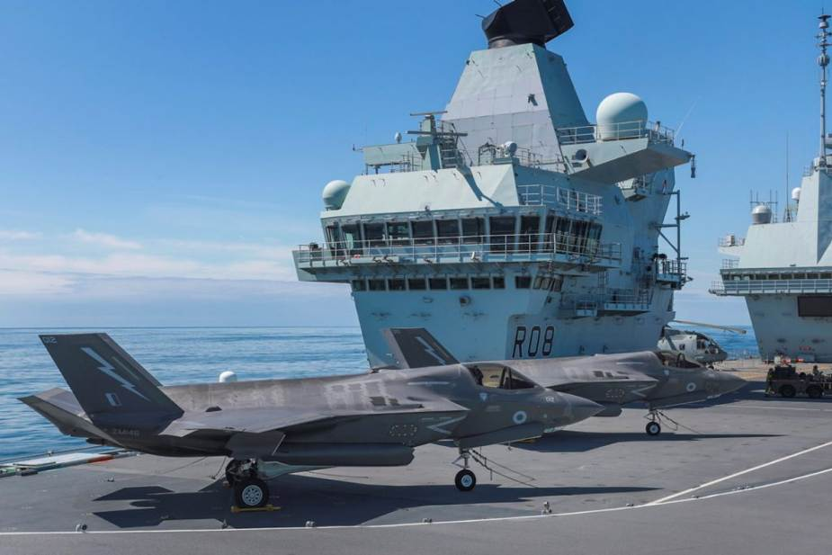 F 35B fighter aircraft British Navy unveils components of its UK Carrier Strike Group UKCSG 925 001