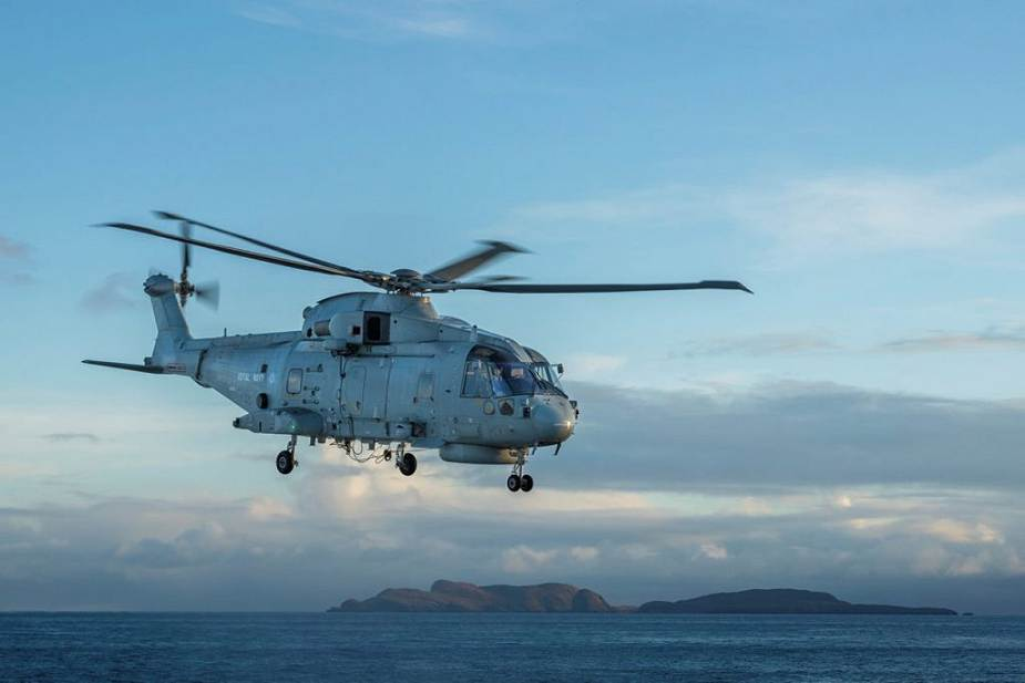 Merlin helicopter British Navy unveils components of its UK Carrier Strike Group UKCSG 925 001