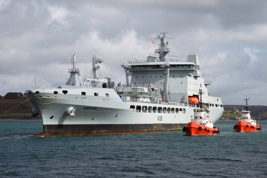 Tide class fleet tanker ship British Navy unveils components of its UK Carrier Strike Group UKCSG 925 001