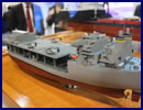 At the Navy League's 2014 Sea-Air-Space Exposition, General Dynamics NASSCO is showing a model of its Afloat Forward Staging Base (AFSB) ship. The ship is designed to facilitate a wide variety of future mission sets in support of special operations.