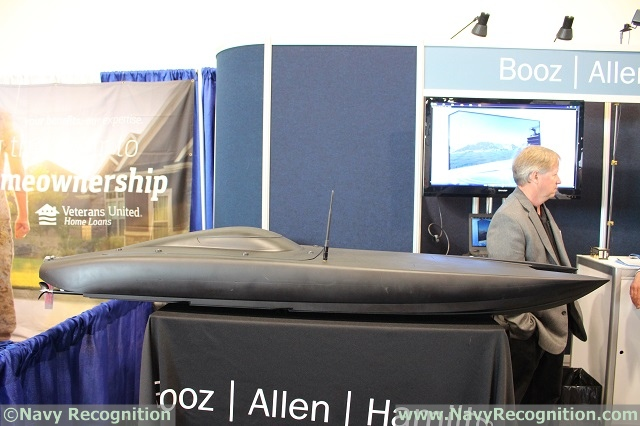 MANTAS T6 mini-USV on display at Sea Air Space 2017.