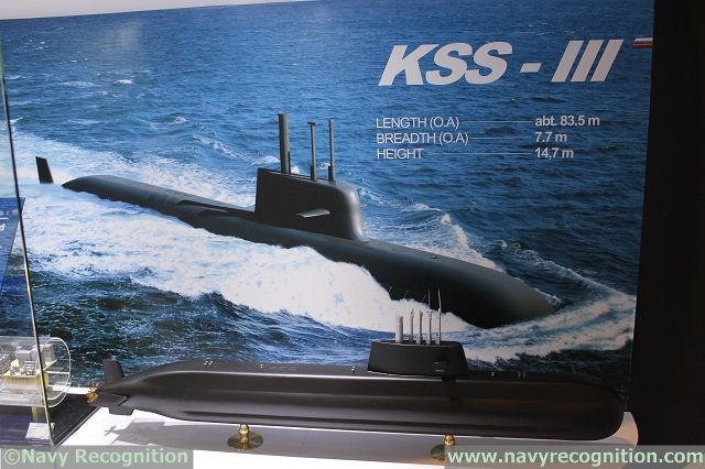 KSS-III is a 3000 tons SSK submarine project fitted with 6x VLS (vertical launch systems)