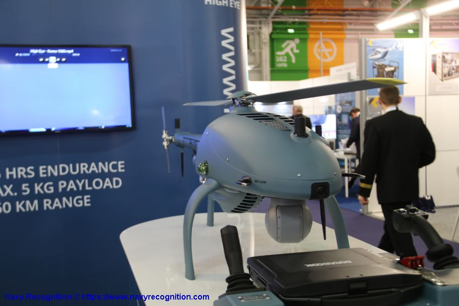 High Eye from Netherlands displays maritime version of its HEF 32 unmanned helicopter Euronaval 2018 925 001